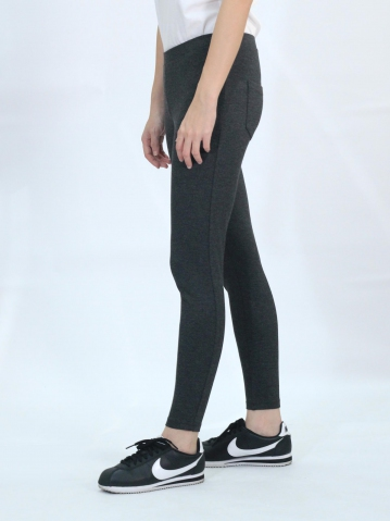 OLLIE KNITTED LONG JEGGING IN DARK MELANGE