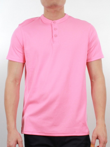 KENT SHORT SLEEVE POLO IN PINK