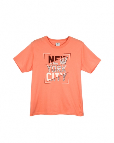 BOYS NEW YORK CITY GRAPHIC TEE IN MID ORANGE