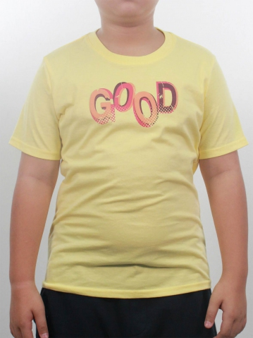 BOYS GOOD GRAPHIC TEE IN LIGHT YELLOW