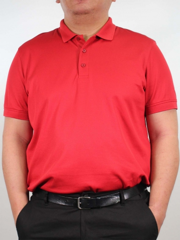 JOSEPH PLUS SIZE SHORT SLEEVE POLO IN BRICK