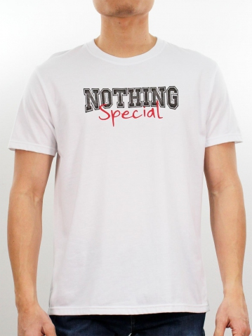 MEN NOTHING SPECIAL GRAPHIC TEE IN WHITE