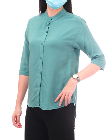 YVONNE 3/4 SLEEVE BLOUSE IN MID TEAL