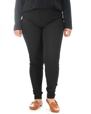 VIVIAN WOVEN LONG JEGGING IN BLACK