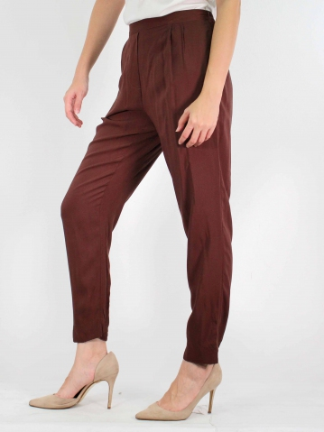 MOON EASY LONG PANT IN DARK BROWN