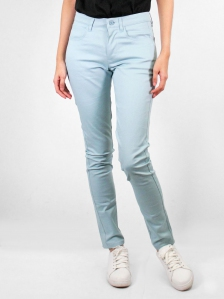 HEBE COTTON LONG PANTS IN LIGHT BLUE