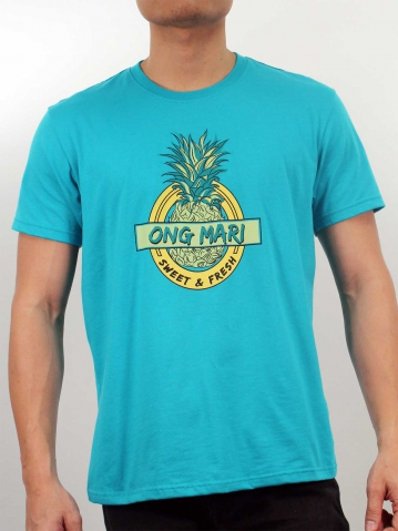 MEN ONG MARI GRAPHIC TEE IN TURQUOISE