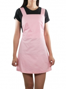 ELLA CASUAL PINAFORE DRESS IN PINK