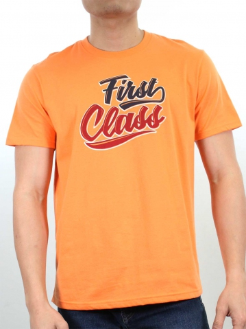 MEN FIRST CLASS GRAPHIC TEE IN LIGHT ORANGE