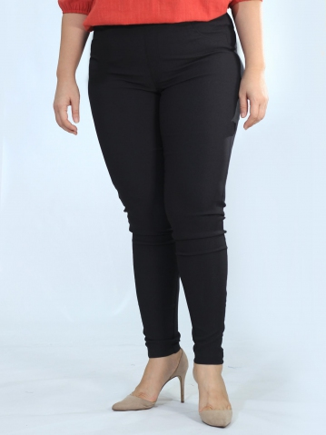 OLIVE WOVEN LONG JEGGING IN BLACK