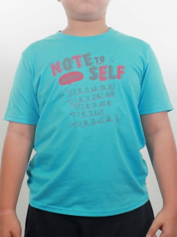BOYS NOTE TO SELF GRAPHIC TEE IN LIGHT BLUE