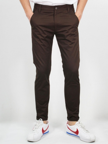 MIKE COTTON LONG PANTS IN CHESTNUT