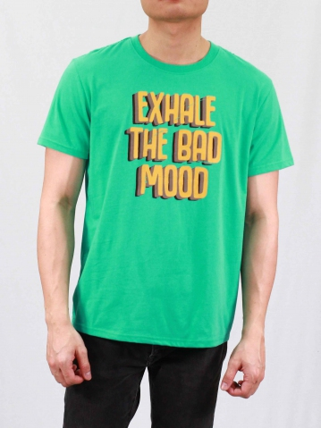 MEN EXHALE THE BAD MOOD GRAPHIC TEE IN DARK MINT