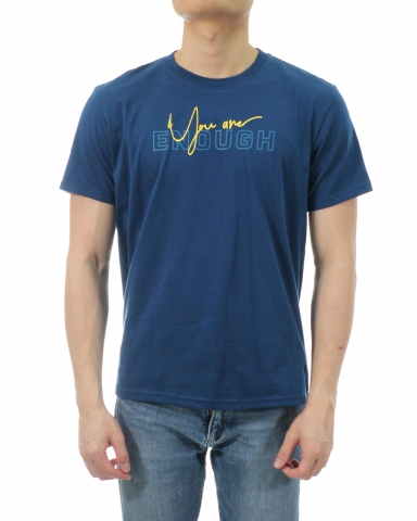 MEN YOU ARE ENOUGH GRAPHIC TEE IN DARK NAVY