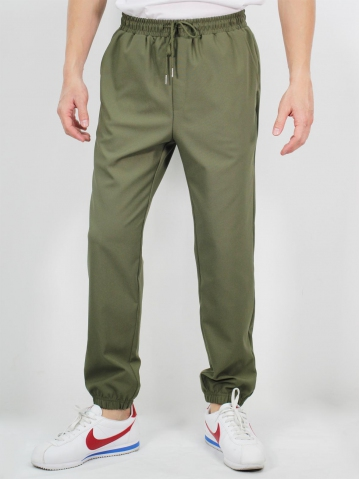 MIKE JOGGER LONG PANTS IN DARK ARMY
