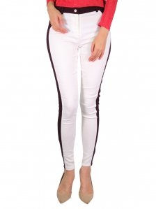 GLORIA CUT & SEW LONG JEGGING IN WHITE