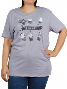 789a5051b WOMEN PLUS SIZE CACTUS IMAGE GRAPHIC TEE IN LIGHT GREY