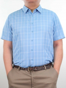 HARRIS COLLARED SHORT SLEEVE SHIRT IN ROYAL