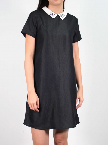 JANE 3/4 SLEEVE DRESS IN BLACK