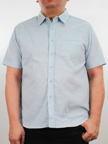 JOSEPH PLUS SIZE COLLARED SHIRT IN LIGHT BLUE