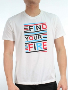 MEN FIND YOUR FIRE GRAPHIC TEE IN OFF WHITE