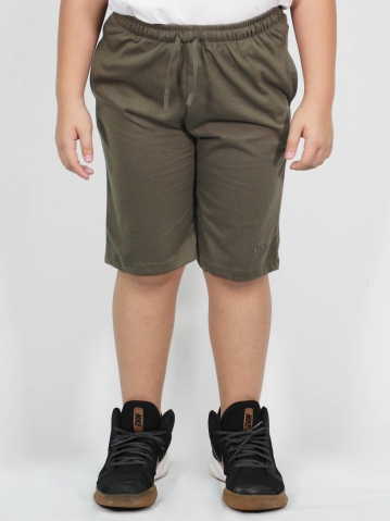 MAXX SOLID KNIT BERMUDA IN ARMY GREEN