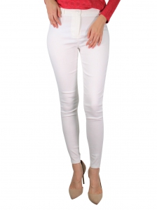 GLORIA SOLID LONG JEGGING IN WHITE