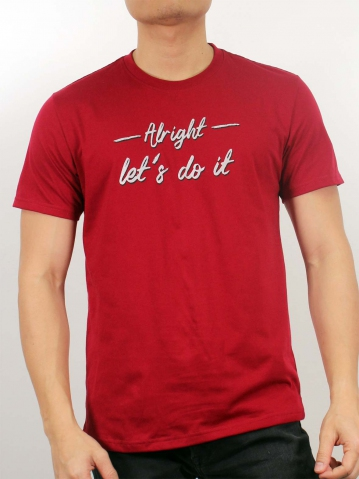 MEN LETS DO IT GRAPHIC TEE IN MAROON