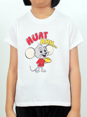 GIRLS HUAT AHH GRAPHIC TEE IN WHITE