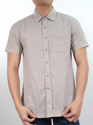 JACK COLLARED SHORT SLEEVE SHIRT IN BROWN