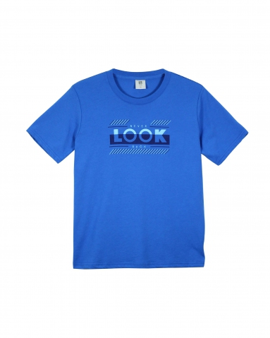 BOYS NEVER LOOK BACK GRAPHIC TEE IN ROYAL