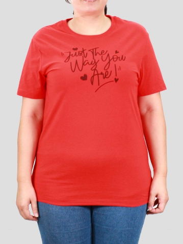 WOMEN PLUS SIZE WAY YOU ARE GRAPHIC TEE IN DARK ORANGE