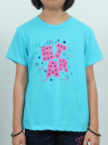 GIRLS LITTLE STAR GRAPHIC TEE IN LIGHT BLUE