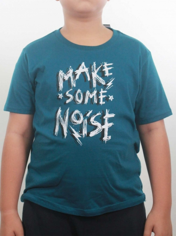 BOYS MAKE SOME NOISE GRAPHIC TEE IN PETROL