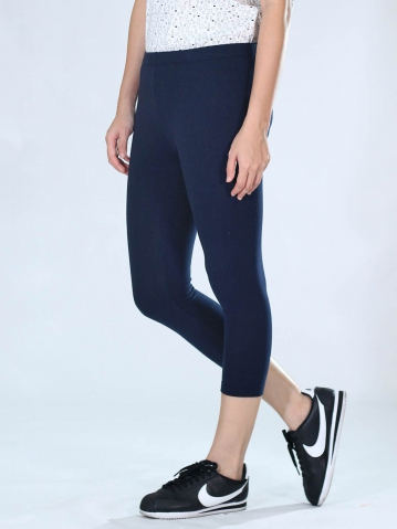 NEOL CROP LEGGINGS IN DARK NAVY