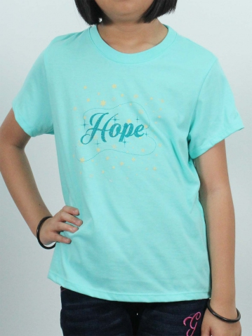 GIRLS HOPE GRAPHIC TEE IN MINT