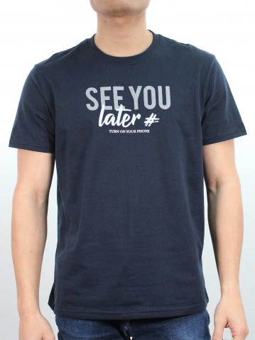MEN SEE YOU LATER GRAPHIC TEE IN DARK NAVY