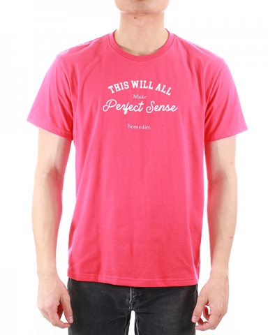MEN PERFECT SENSE GRAPHIC TEE IN ROSE
