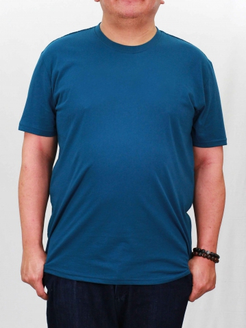 RONALD PLUS SIZE SHORT SLEEVE PLAIN TEE IN PETROL
