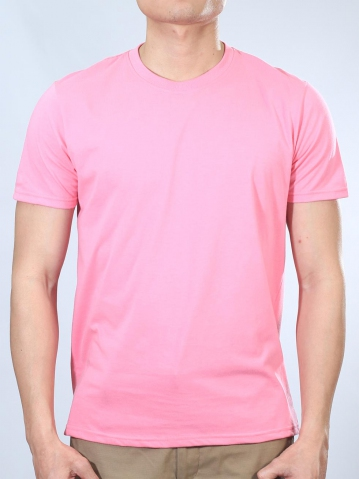 NOAH ROUND NECK SHORT SLEEVE PLAIN TEE IN PINK