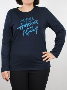 WOMEN PLUS SIZE FOREVER GRAPHIC TEE IN DARK NAVY