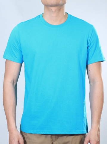 NOAH ROUND NECK SHORT SLEEVE PLAIN TEE IN TURQUOISE