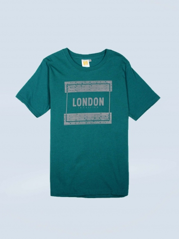 BOYS LONDON IS CALLING GRAPHIC TEE IN DARK TEAL