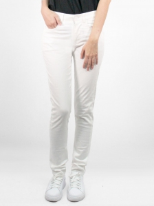 HEBE COTTON LONG PANTS IN OFF WHITE