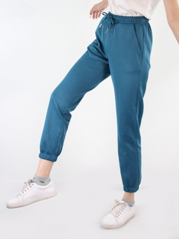 JANE KNITTED JOGGER PANTS IN PETROL