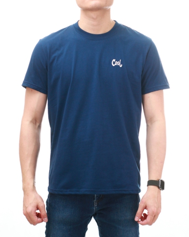MEN COOL EMBROIDERY LOGO TEE IN DARK NAVY