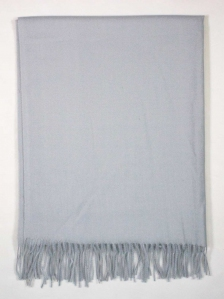 FIONA SOLID COLOUR SCARF IN LIGHT GREY