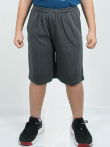 HUGO SOLID KNIT BERMUDA SHORTS IN DARK GREY