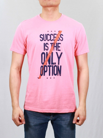 MEN IS THE ONLY OPTION GRAPHIC TEE IN MID PINK