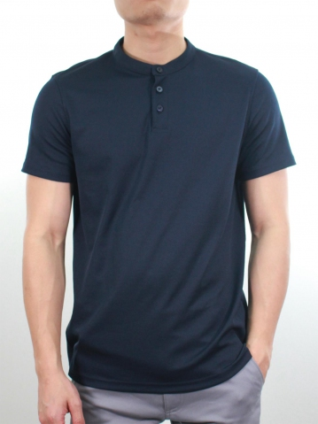 KENT SHORT SLEEVE POLO IN DARK NAVY